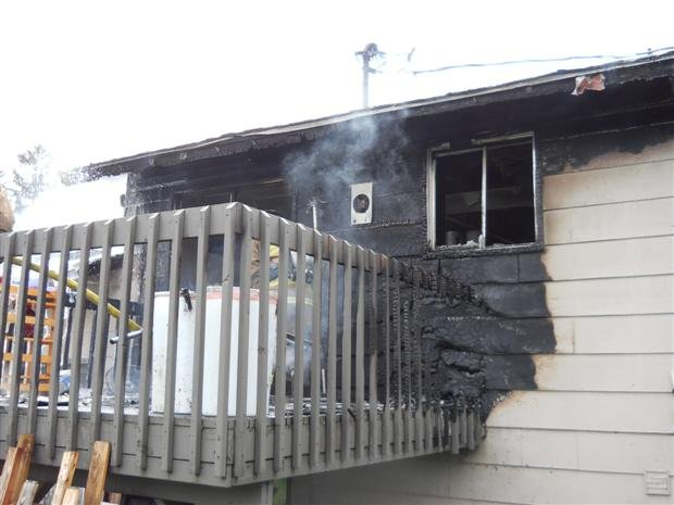 Spokane Valley Firefighters Quickly Extinguished A Deck Fire