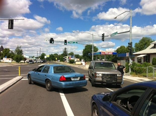Police investigating an officer involved shooting at Mission & Napa Sunday morning