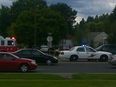 Scene of the shooting across the street from the Northpointe shopping area in North Spokane (Photo: KHQ)