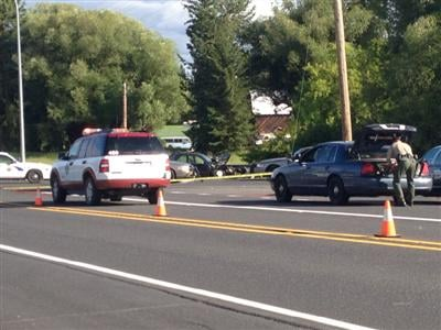 Police activity could be seen in Deer Park that was believed to be related to the shooting in Spokane.
