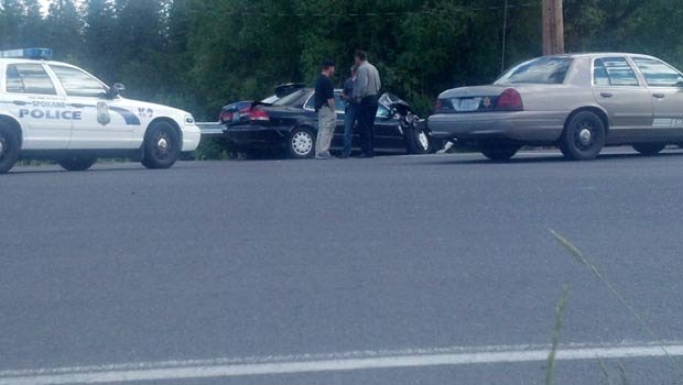 The suspect in the shooting, Charles Wallace, reportedly shot himself near Hwy. 395 and Crawford in the Deer Park area.
