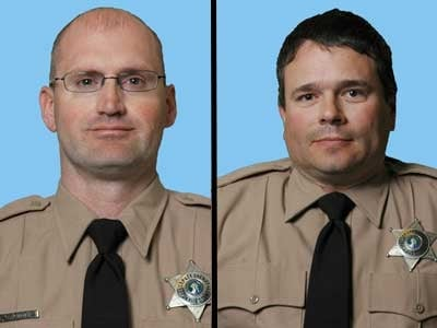 Spokane County Sheriff's Deputies Mike Northway and Matt Spink