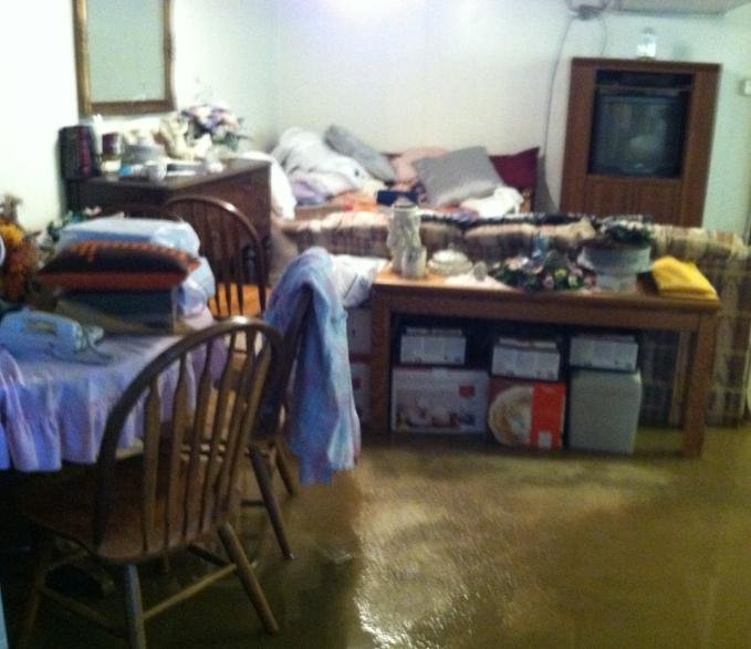 © Flooded basement in the area of Belt & Rosewood
