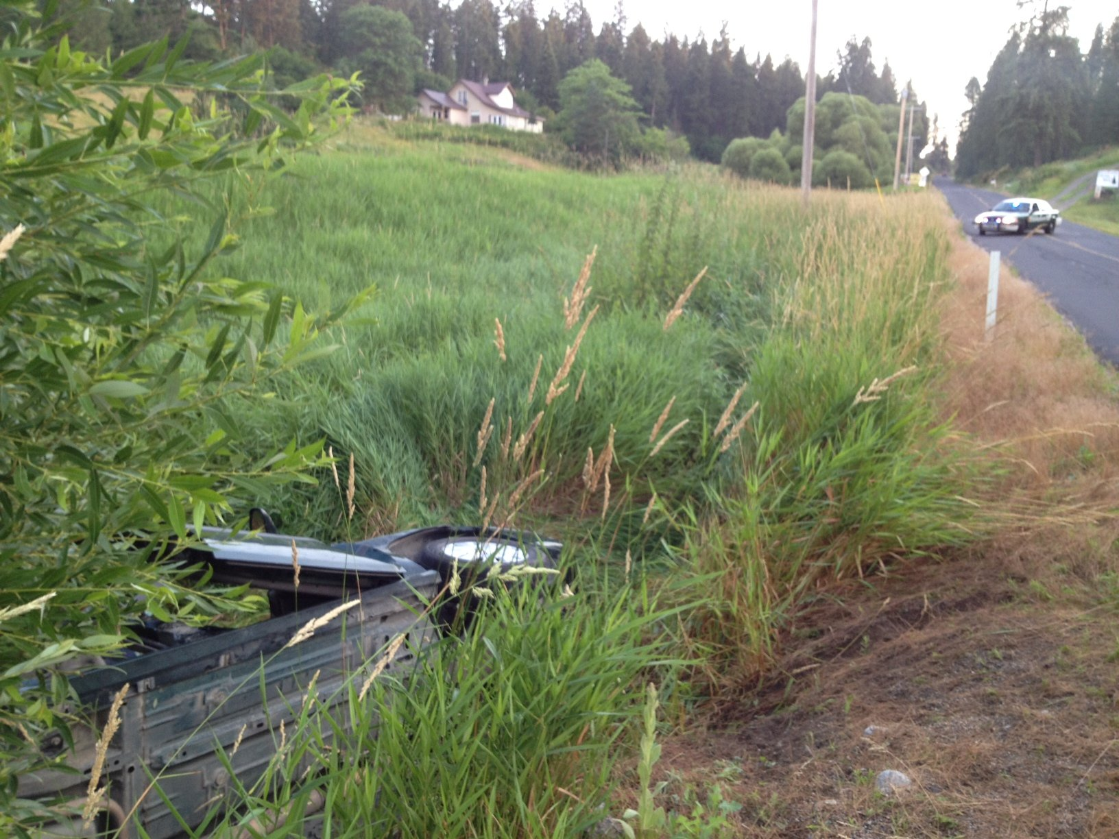 Car Rolled Over In Creek