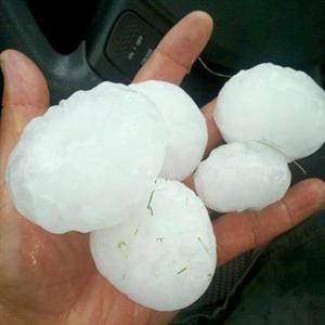 Huge hailstones fell in the area around Kendrick, Idaho (KHQ Viewer)