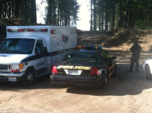 U.S. Marshals said a suspect fired at them from trailer while they were trying to arrest him west of Spokane on Friday. (Photo: KHQ)