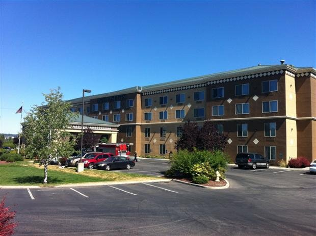 The Oxford Suites was evacuated Sunday morning for a Haz-Mat investigation