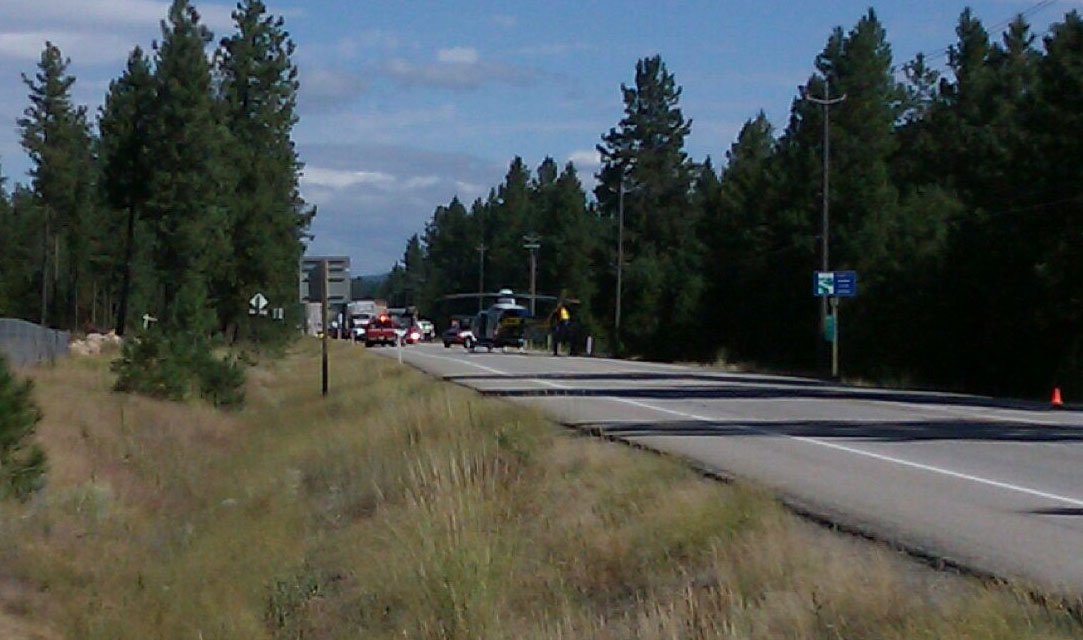  Washington State Patrol closed Hwy. 2 north of Riverside to investigate the fatal crash (Photo: KHQ / Gabe Ferguson)