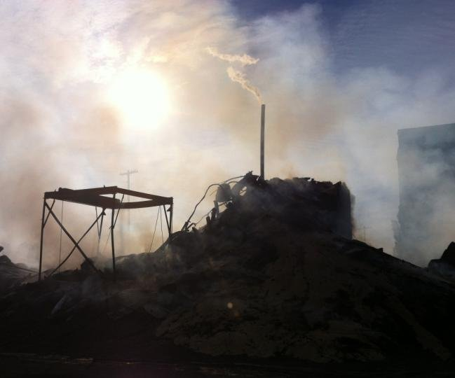 © Photo taken on Wednesday morning, the day after the fire