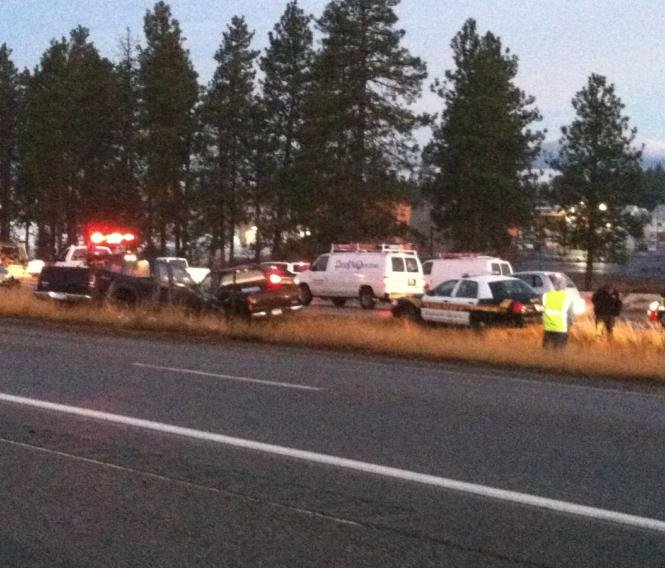 Photo taken by KHQ Local News reporter/photographer Matt Rogers near the State Line