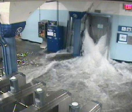 Elevator floods in NY City