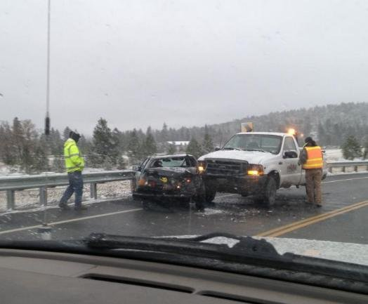 Slide-off on State Line Bridge