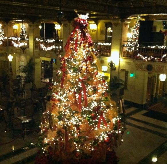 the christmas tree elegance tradition at the davenport hotel kicked off on wednesday night now you and your family can go check out all of the 12 trees at - When Does The Christmas Tree Go Up