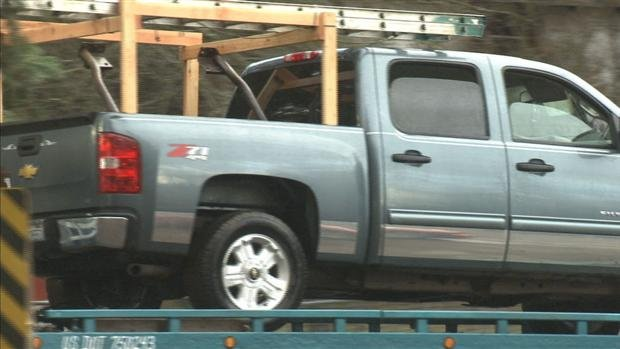 © KHQ Exclusive photo of the truck the suspect was driving
