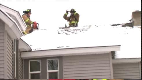 Crews Use Pickaxes, Chainsaw To Get To Chimney Fire