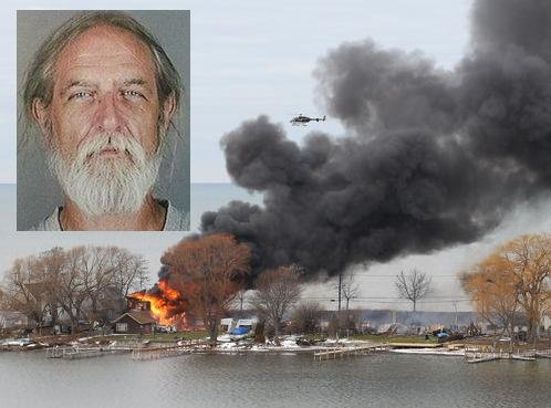 MUGSHOT Courtesy: Monroe County Sheriff's Office, via Reuters. Fire Photo: AP