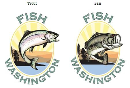 Wdfw announces new 39 fish washington 39 logos spokane for Department of fish and wildlife washington