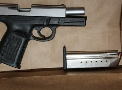 Photo of  gun that was presented at the SPD news conference