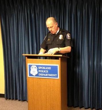 Spokane Police Chief Frank Straub holds a press conf. on Friday