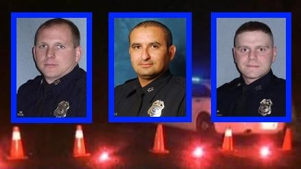In order from left to right: Officer Lesser, Officer Valdez, Officer Jensen