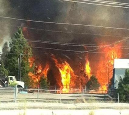 Photo from KHQ Facebook friend Teresa Looney. (Spotted Rd. & I-90)