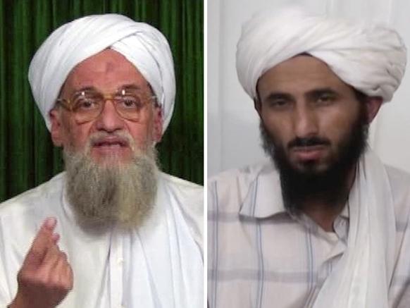 PHOTO COURTESY: NBCNEWS: From left, Al-Qaeda's chief Ayman al-Zawahiri and Nasser al-Wahishi, leader al-Qaida in the Arabian Peninsula.