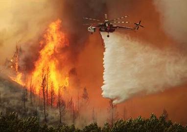 Wildfire burning in Idaho