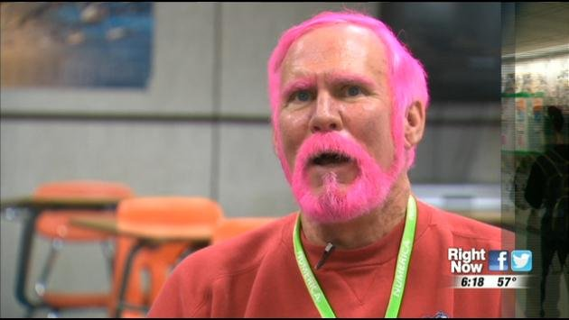 East Valley High School Teacher Dyes His Hair For Breast Cancer ...
