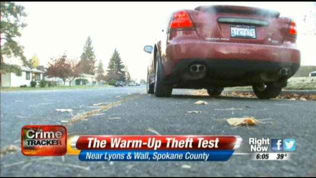 Leaving your vehicle unattended while it's running could get you a $124 ticket in Spokane County