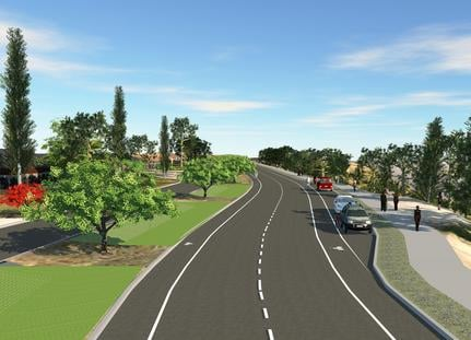 A rendition of what High Drive on Spokane's south hill may soon look like