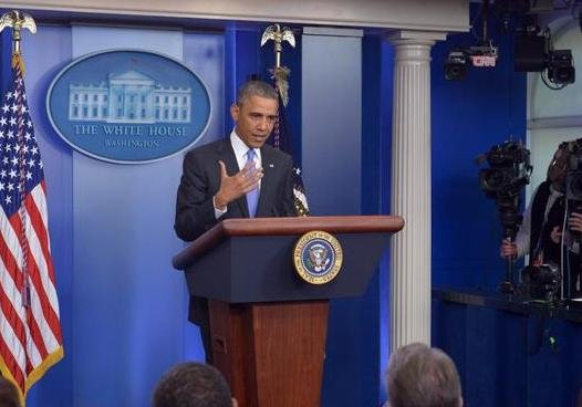 President Obama addressing reporters about Obamacare on Thursday