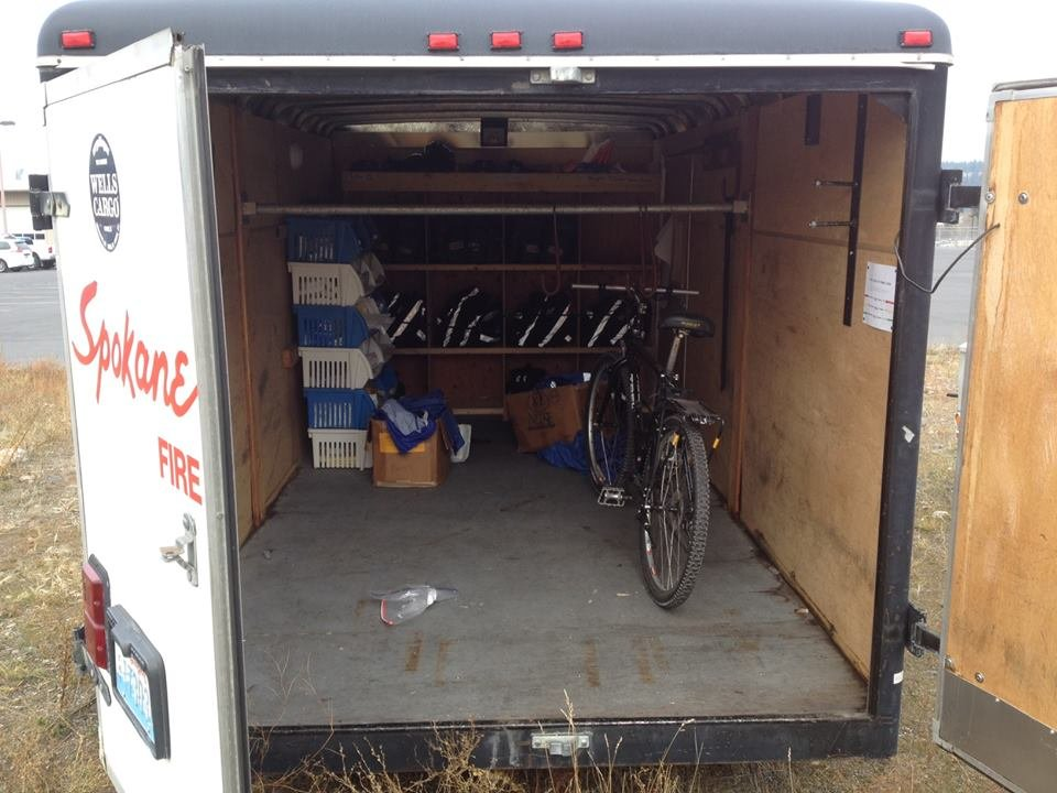The Spokane Fire Department's Ped Med Trailer was broken into Wednesday night or Thursday morning