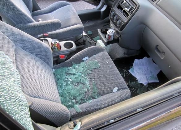 Prowler smashes window