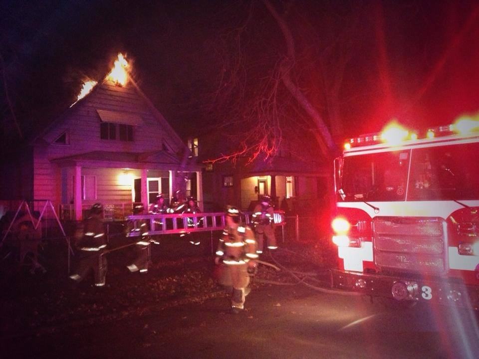 Firefighters were called to a house fire in west central Spokane Tuesday night
