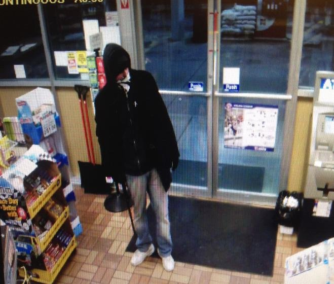 Surveillance photo of the robbery suspect