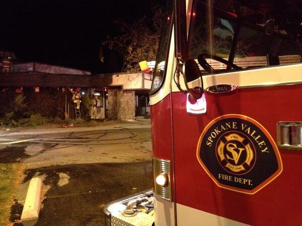 Firefighters were called to the Berean Bible Church near Boone and Van Marter in Spokane Valley Friday night.