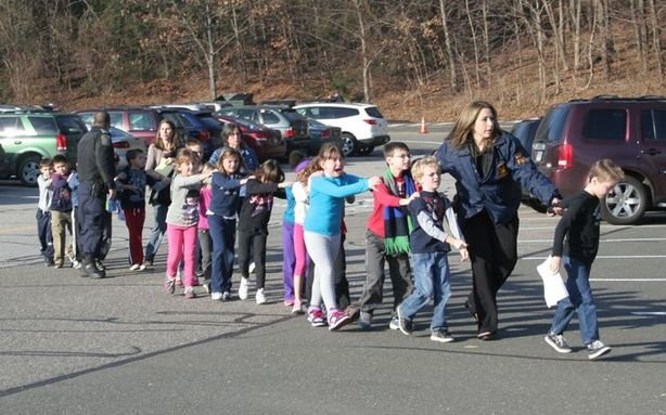 Photo from Newtown the day the shooting happened