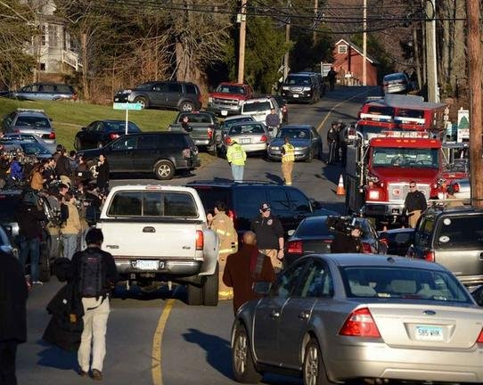 File photo of the Newtown shooting