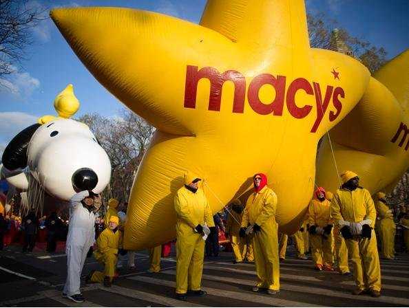 A colorful cast of characters takes part in the 87th Macy's Thanksgiving Day Parade in New York City.