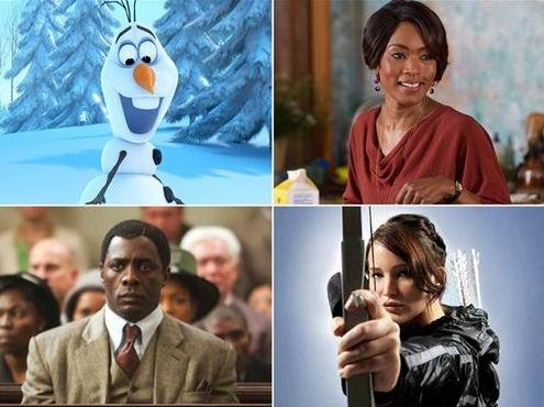 """Frozen,"" ""Black Nativity,"" ""The Hunger Games: Catching Fire,"" and ""Mandela: Long Walk to Freedom"" are among your Thanksgiving movie choices."