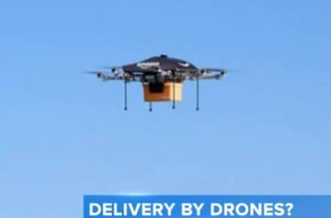 Amazon.com says it's considering using drone aircraft for deliveries.