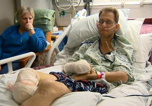 A Colorado man survived nearly a week in the mountains without food or water when he was trapped in a car wreck, laying on top of his dead friend.