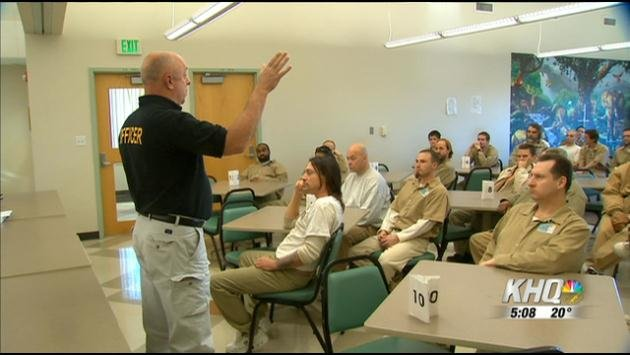 Law Enforcement Professionals met with more than 100 inmates Wednesday who will qualify as armed career criminals when they leave prison.