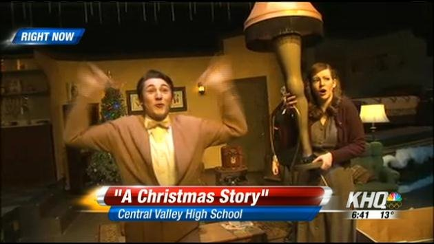 "Central Valley High School is putting on the play ""Christmas Story!"""