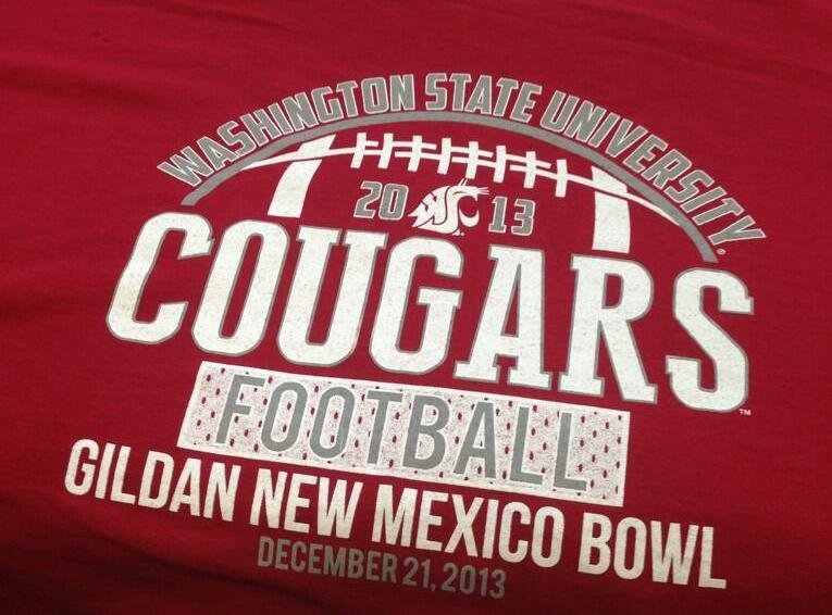 Production got underway at Zome Design in Spokane Valley for the official Washington State Cougar New Mexico Bowl shirt.