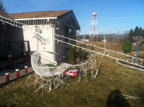 Vandals tore Christmas lights off the house and damaged standing decorations in the yard. The Cafaro's estimate the damages are at least $1,000, but could be as high as $2,300.