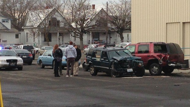 Police arrested a  teenager following a pursuit Tuesday afternoon near Sharp and Monroe