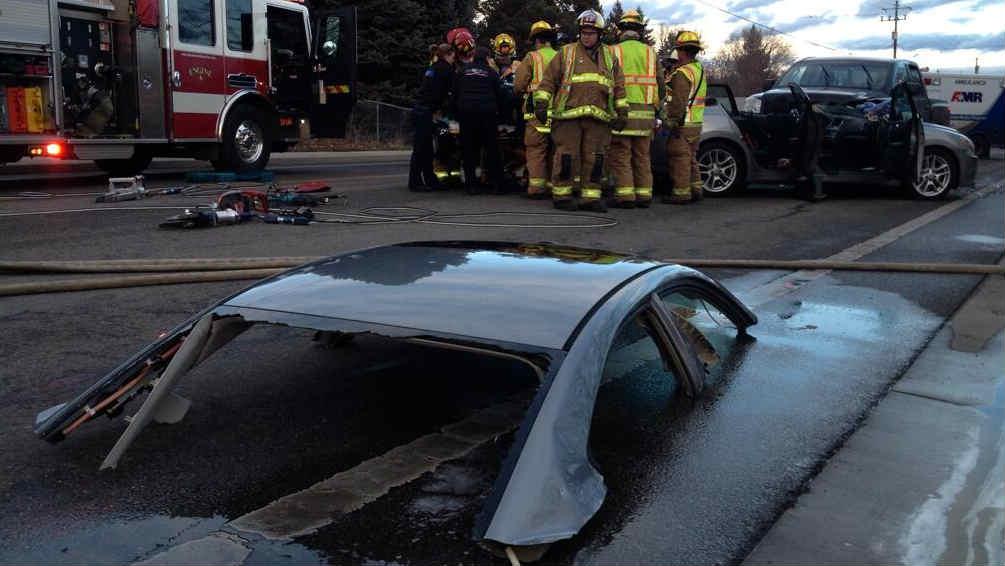 Driver extricated from crash in spokane valley spokane north idaho