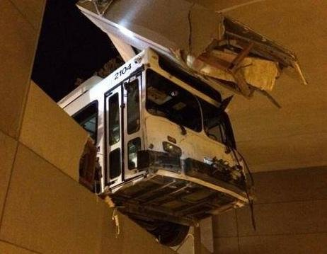 BOISE, Idaho (AP) - Police in Boise say a passenger bus crashed into Idaho Power corporate headquarters after its brakes failed.