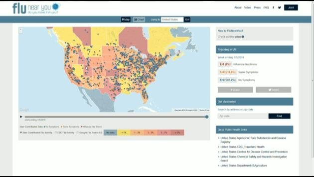 To track the flu in your area, just go to www.flunearyou.org
